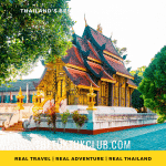 A beautiful traditional Thai Temple in a small village in Chiang Mai