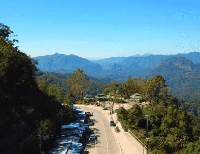 Bright blue skies and mountains in Northern Thailand