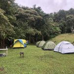 Tents in the mountains of Thailand
