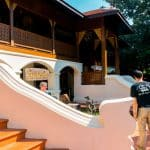 A traditional Northern Thailand style hotel frontage